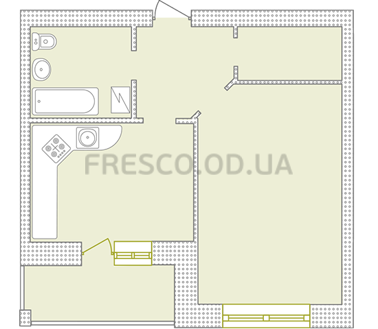 Однокомнатная - ЖК Парк Совиньон$32835Площадь:43,78m²