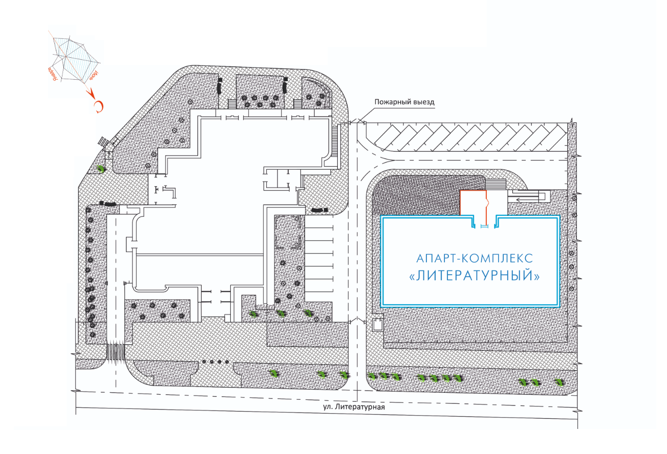 Апарт- комплекс Литературный ген план
