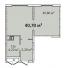 Однокомнатная - Апарт- комплекс ЛитературныйПроданаПлощадь:40,7m²