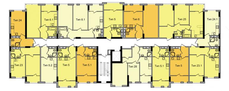 ЖК ArtVille (АртВилль) дом 4 план 2-го этажа