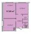 Двухкомнатная - Апарт- комплекс Литературный$49896Площадь:56,7m²