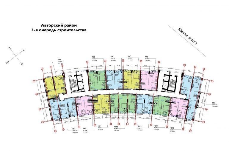 ЖК Авторский район третья очередь, план этажа