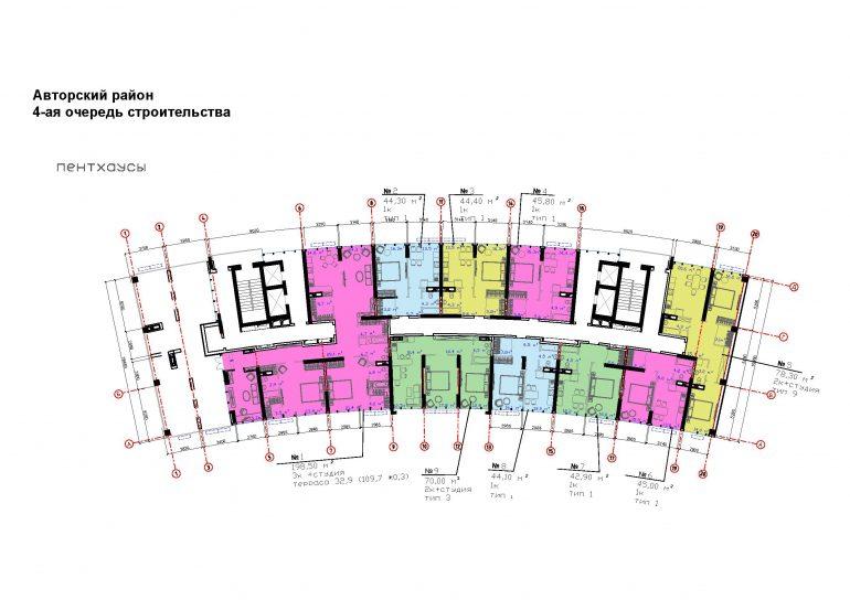 ЖК Авторский район 4 очередь план 16 этажа