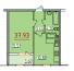 Однокомнатная - ЖК 34 ЖемчужинаПроданаПлощадь:37,93m²