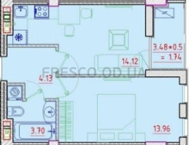 Однокомнатная - Клубный дом Пространство на Неделина$38102Площадь:38,88m²