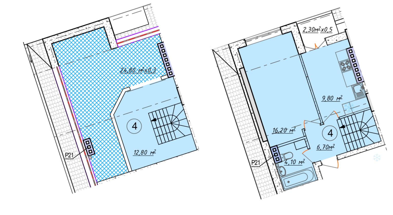 Двухкомнатная - ЖК Club Marine 2 (Клаб Марин 2)ПроданаПлощадь:57,9m²