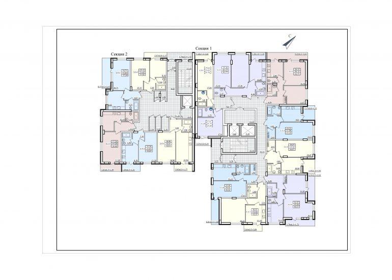 ЖК Платинум Резиденс Platinum Residence план типового этажа