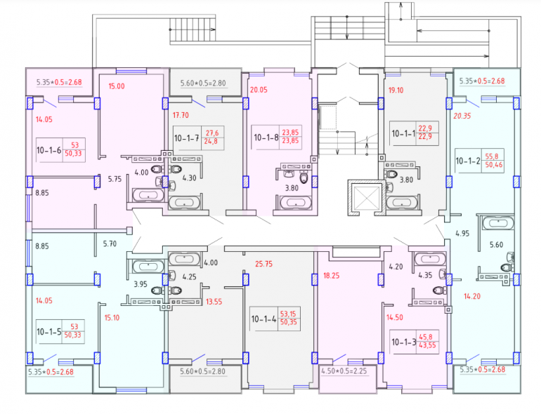 ЖК SMART CITY (Смарт Сити) 10 секция КОМФОРТ 1-4 этаж