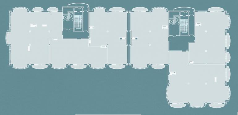 Клубный Дом BIARRITZ (Биарриц) типовой план 2-7 этажа