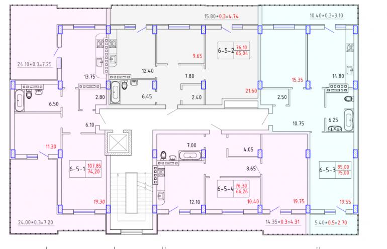 ЖК SMART CITY (Смарт Сити) 6 секция ЭЛИТ 5 этаж