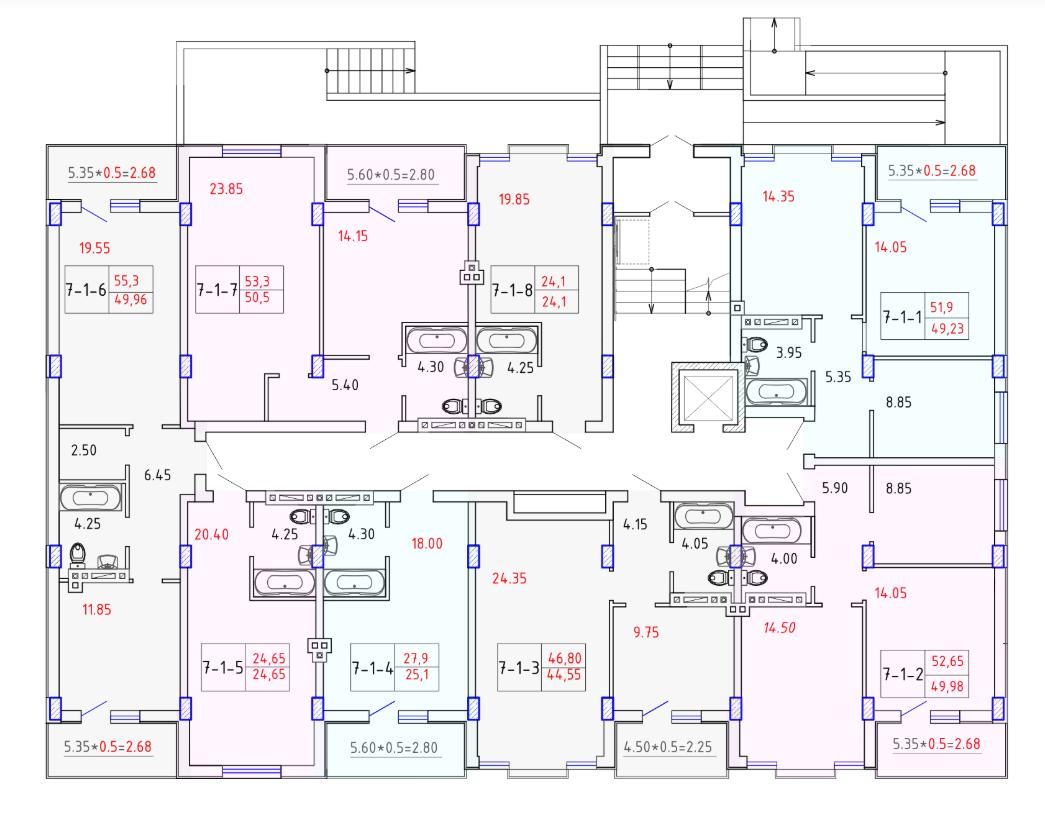 ЖК SMART CITY (Смарт Сити) 7 секция КОМФОРТ 1-4 этаж
