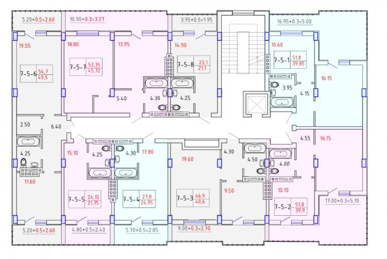 ЖК SMART CITY (Смарт Сити) 7 секция КОМФОРТ 5 этаж