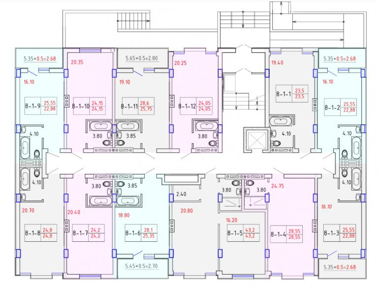 ЖК SMART CITY (Смарт Сити) 8 секция СМАРТ 1-4 этаж