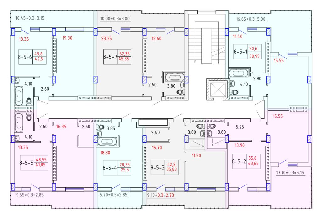 ЖК SMART CITY (Смарт Сити) 8 секция СМАРТ 5 этаж