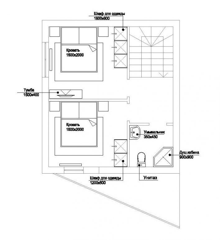 КГ Академический коттедж 85/1 план 2-го этажа