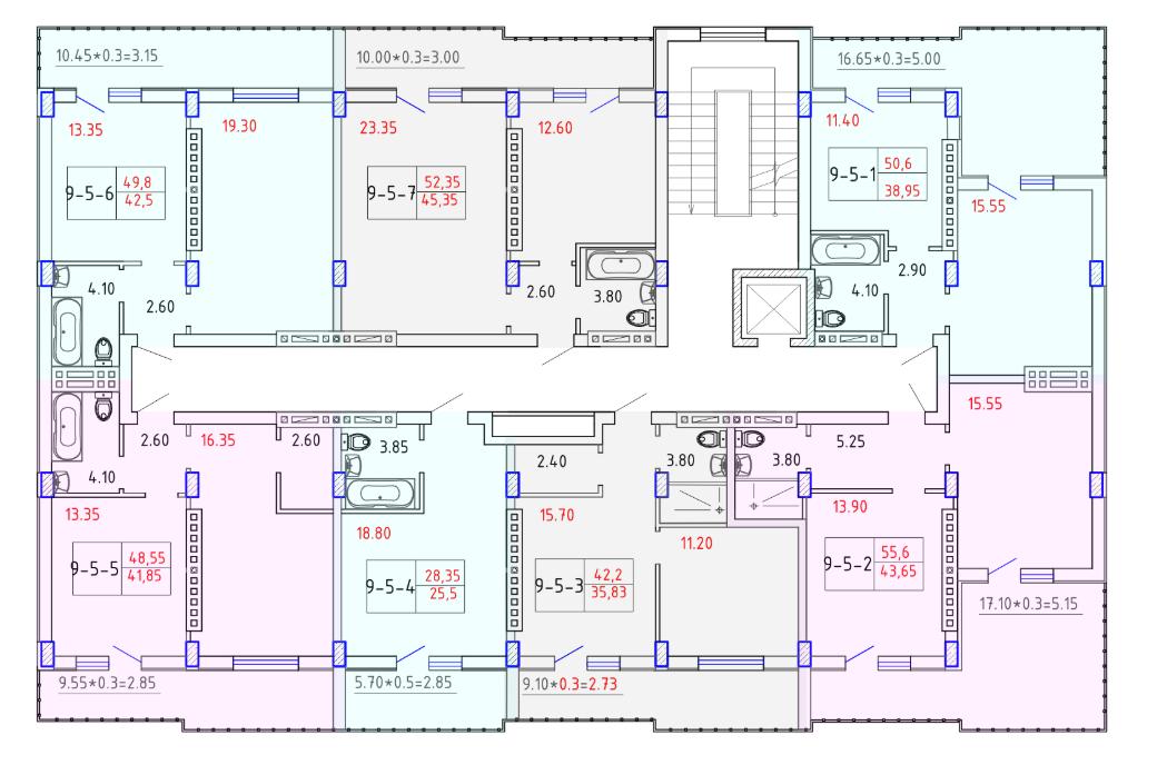 ЖК SMART CITY (Смарт Сити) 9 секция СМАРТ 5 этаж