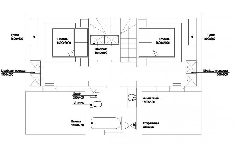 КГ Академический коттедж 84/1 план 2-го этажа