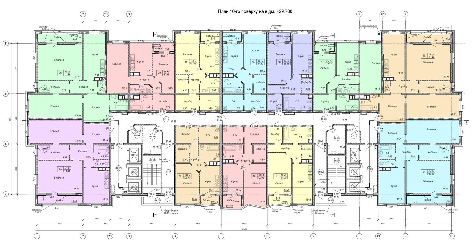 Олимпийский Комплекс апартаментов план 10 этажа