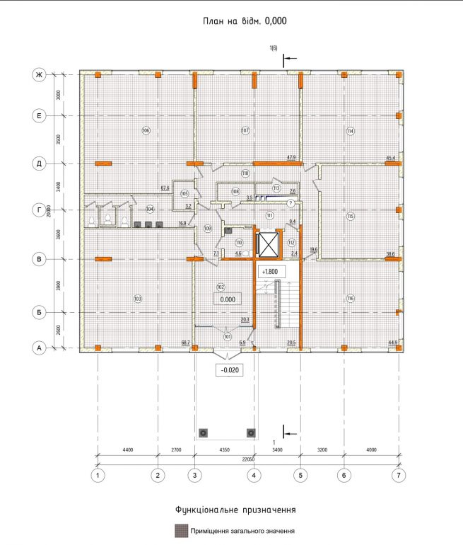 Клубный дом Pierre (Пьер) план 1 этажа