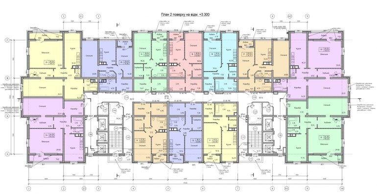 Олимпийский Комплекс апартаментов план 2-го этажа