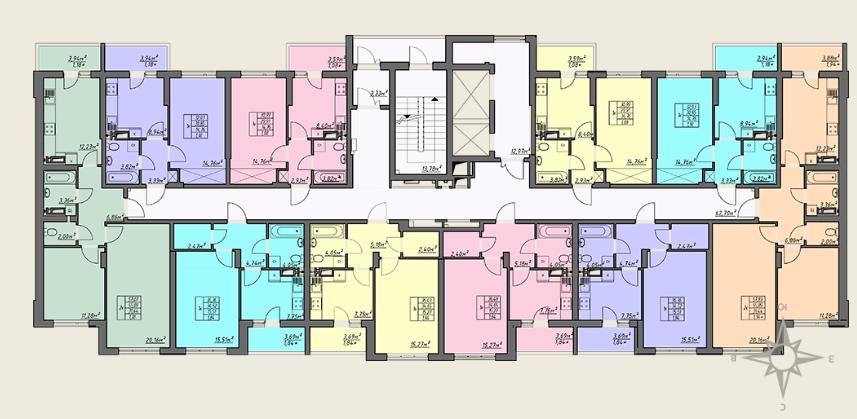 ЖК Одесские традиции 4 дом 6 секция план типового этажа