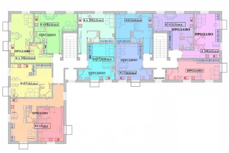 Клубный дом «Малый Марсель-2» план 4 этажа