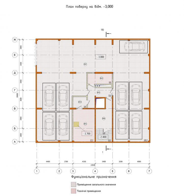 Клубный дом Pierre (Пьер) план паркинга
