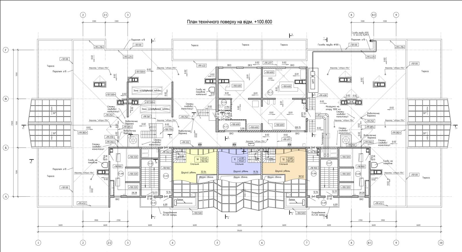 Олимпийский Комплекс апартаментов план тех. этажа
