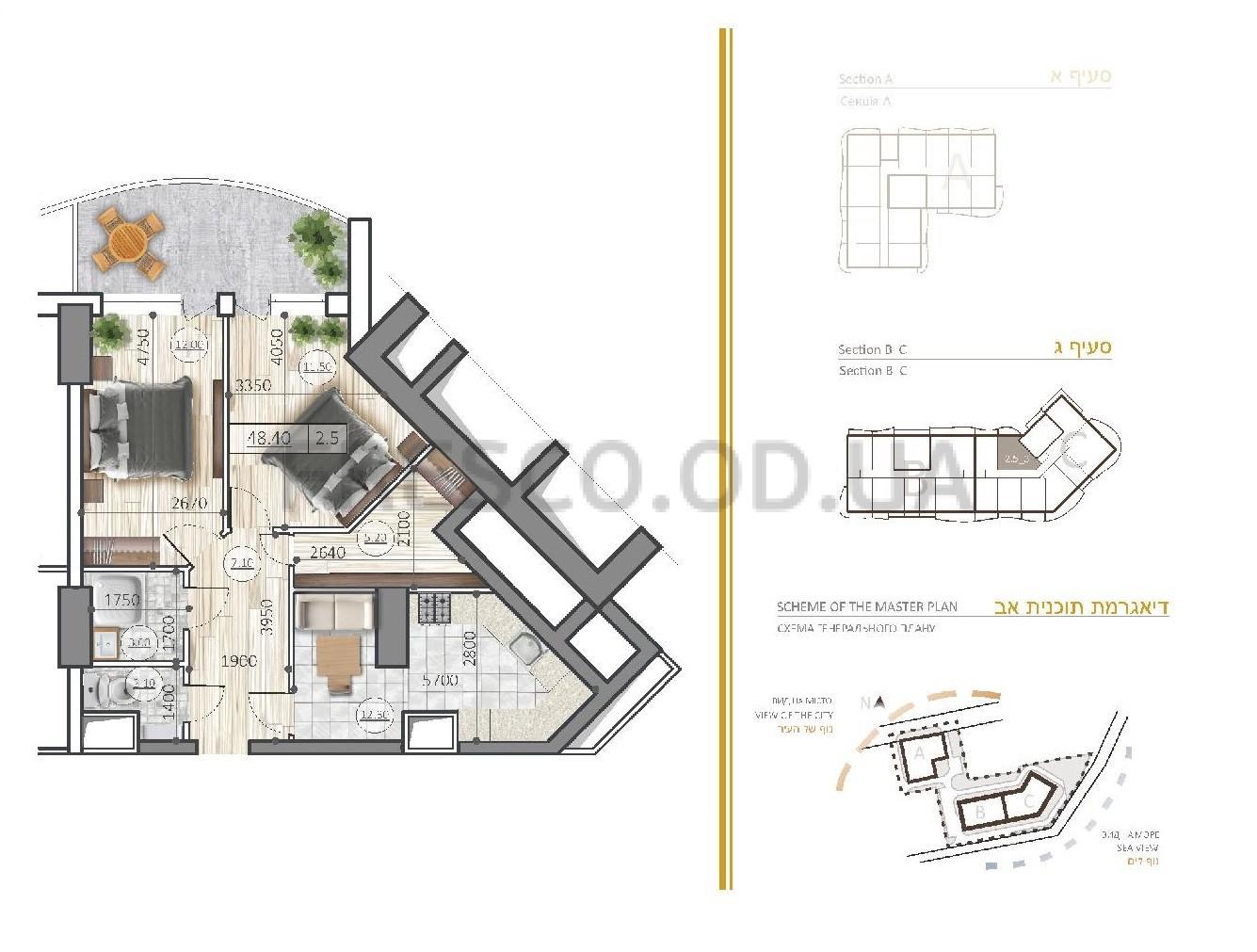 Двухкомнатная - Эмпориум Тауэр (Emporium Tower)$111598Площадь:57,4m²