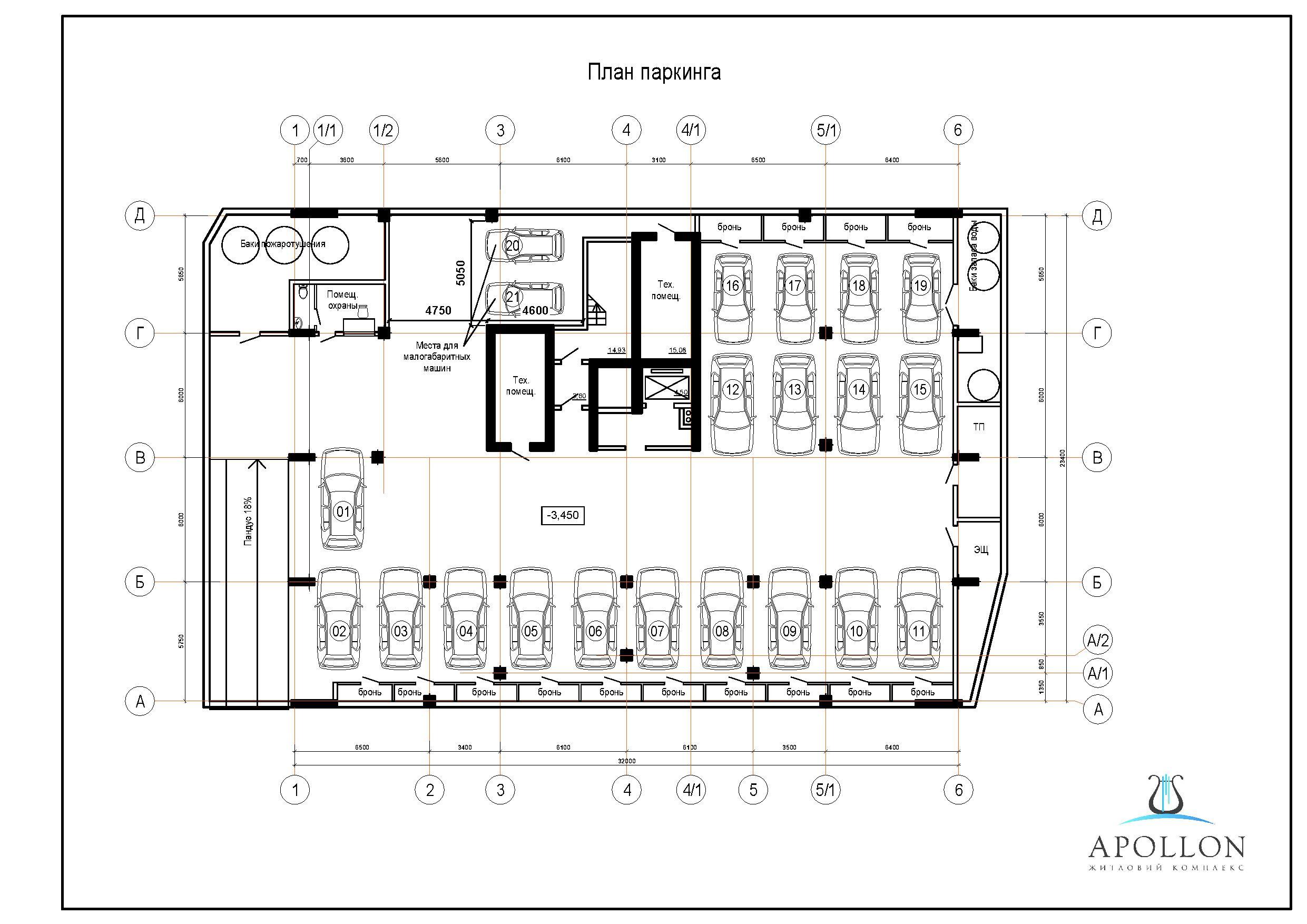 ЖК Аполлон Гефест план паркинга