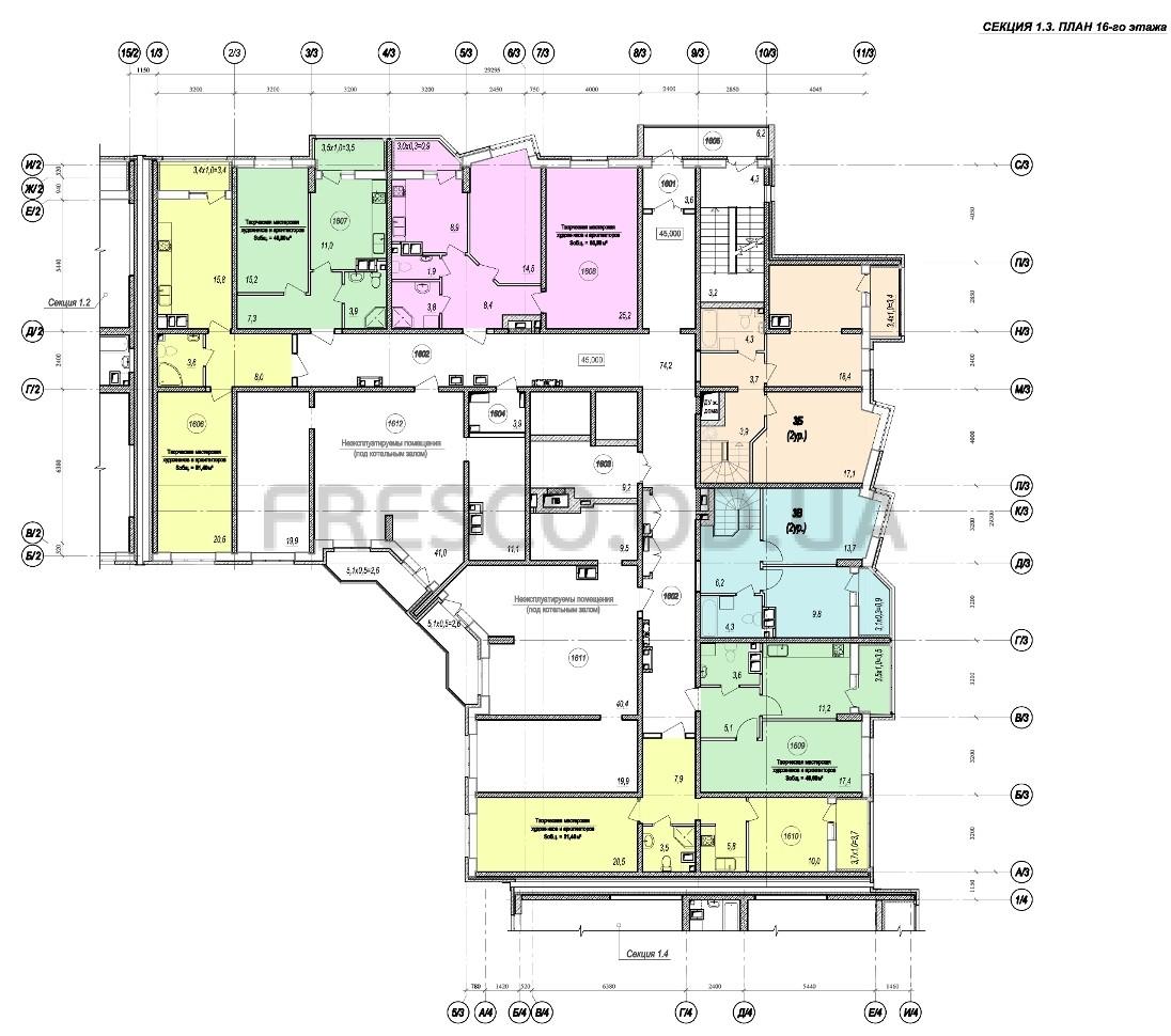 ЖК Прохоровский квартал секция 3 планировка 16 этажа