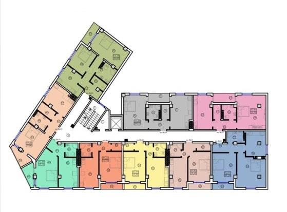 Дом на Ольгиевской план типового этажа