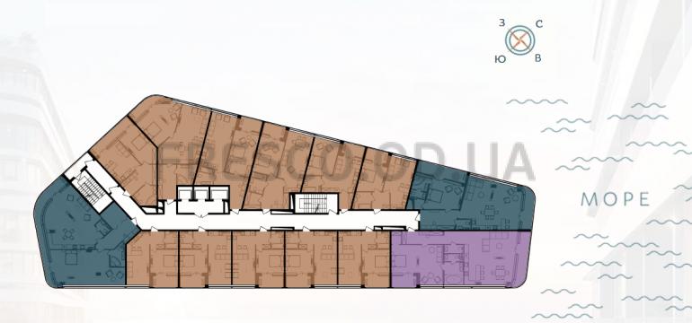 ЖК Kandinsky Residence (Кандинский) 4 дом план типового этажа