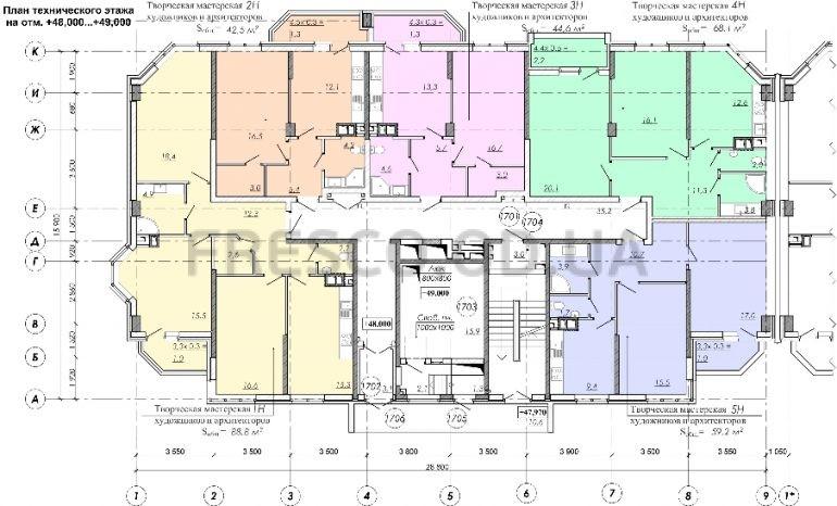 ЖК RealPark (Реал Парк) секция 2.1 план 17 этажа