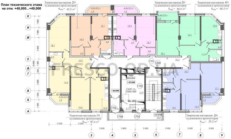 ЖК RealPark (Реал Парк) секция 2.2 план 17 этажа
