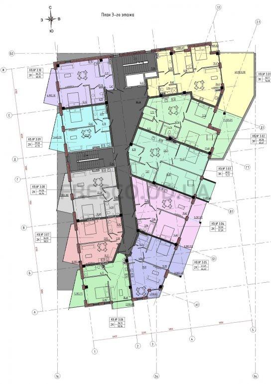 Пространство на 12 фонтана план 3 этажа