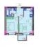 Однокомнатная - ITown (Ай Таун)ПроданаПлощадь:40,32m²