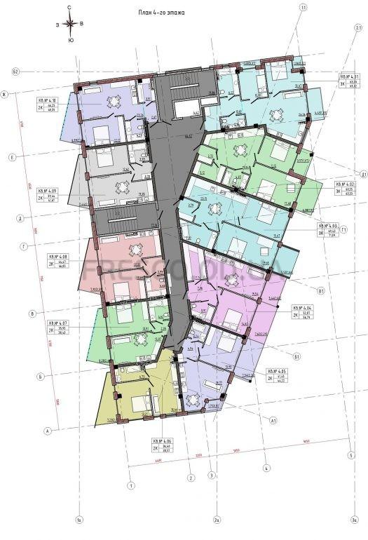 Пространство на 12 фонтана план 4 этажа