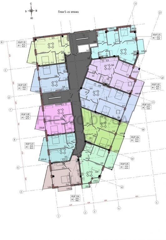 Пространство на 12 фонтана план 5 этажа
