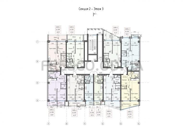 Пространство на Донского Корпус АСекция 2 план 3 этажа