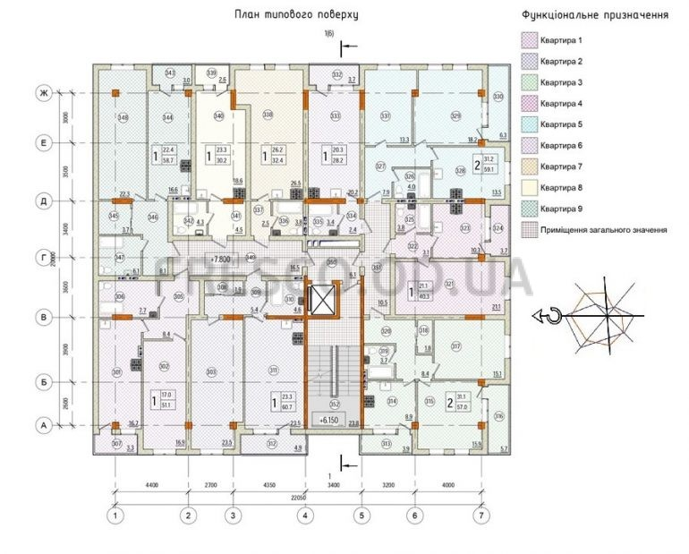 Клубный дом Pierre (Пьер) план типового этажа