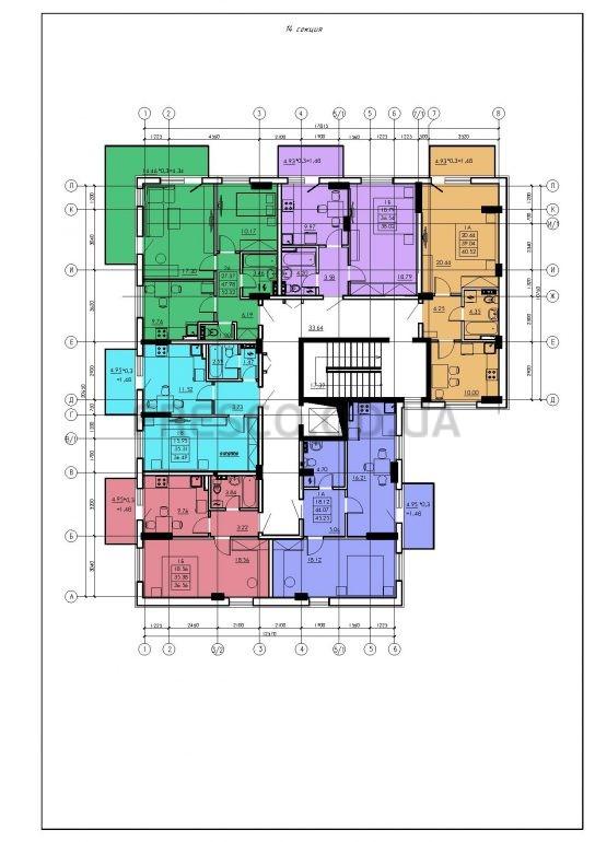 ЖК VENTUM (Вентум) 14 секция план типового этажа