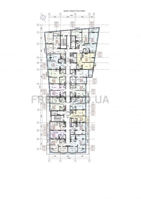 Пространство на Раскидайловской 2,3 секции план 5 этажа