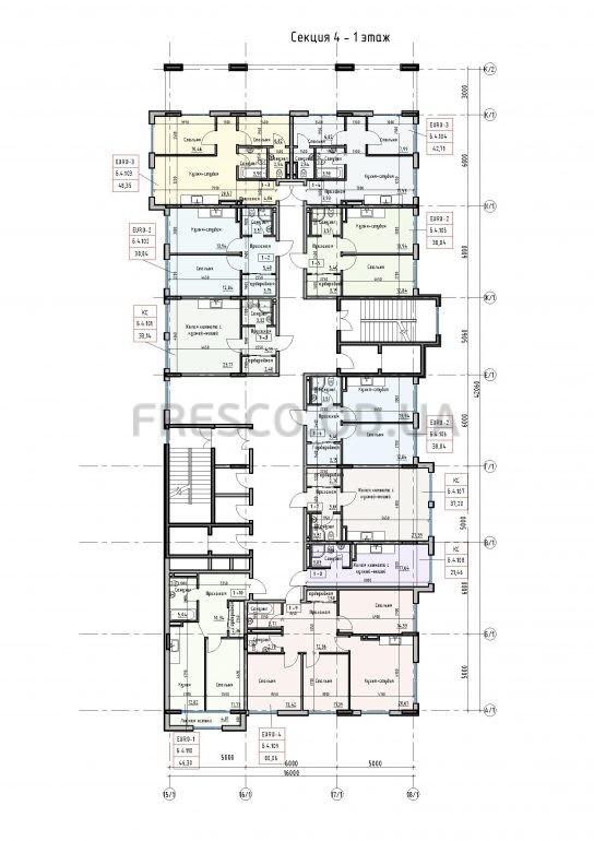 Пространство на Донского 2 Дом 4 секция 1 этаж