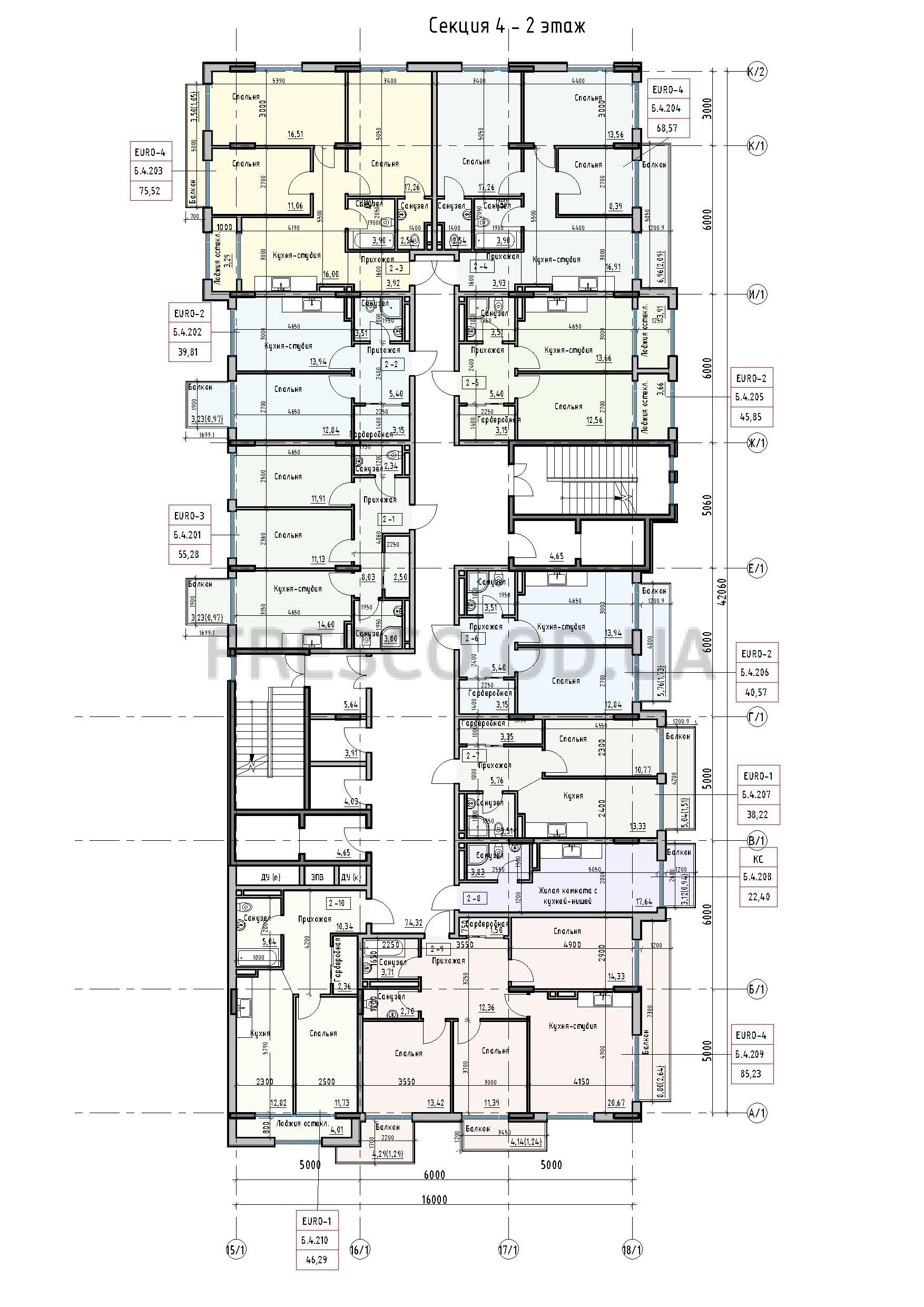 Пространство на Донского 2 Дом 4 секция 2 этаж