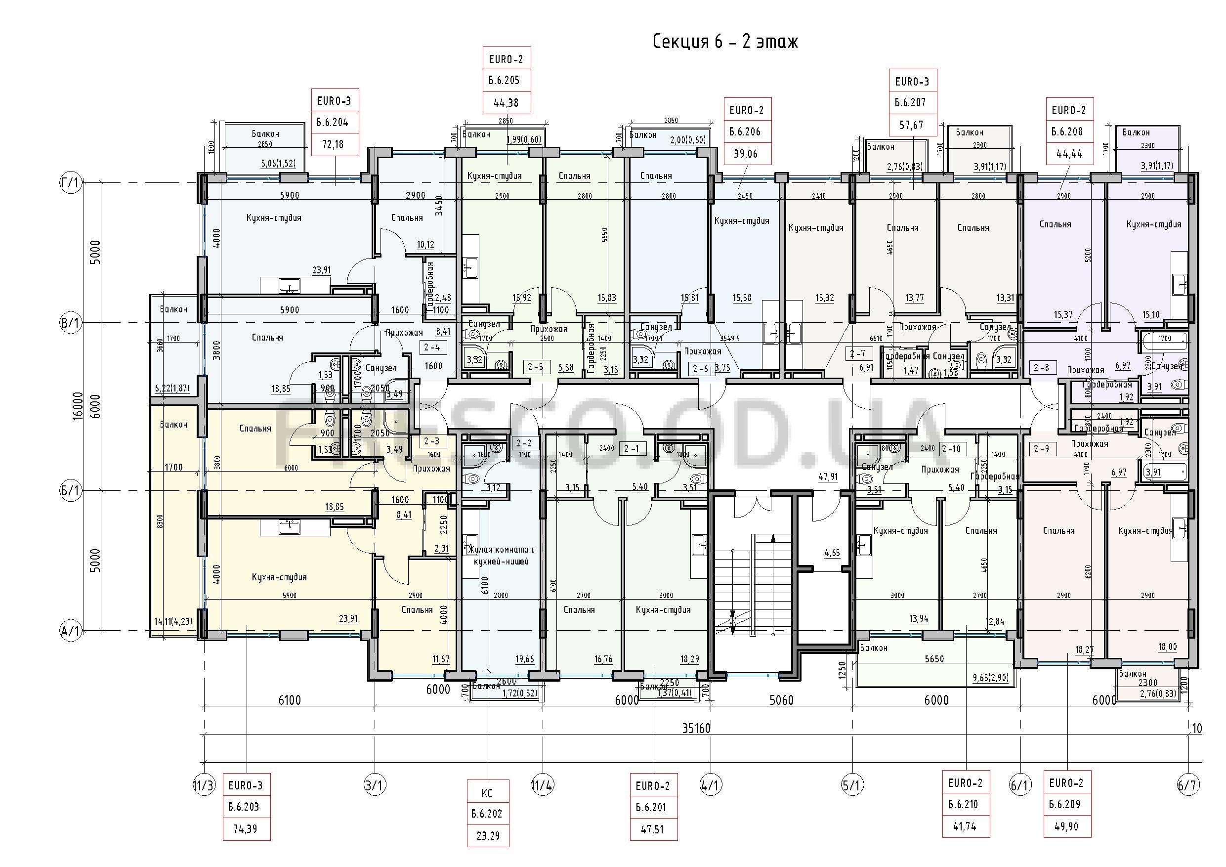 Пространство на Донского 2 Дом 6 секция 2 этаж