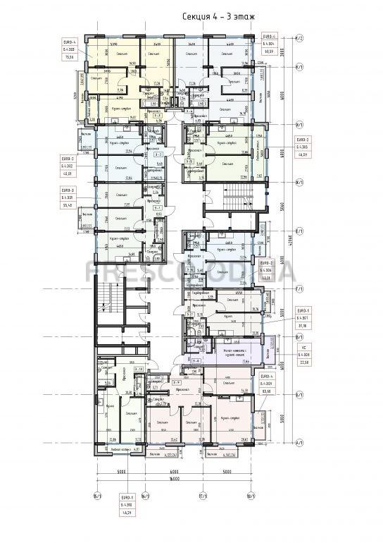 Пространство на Донского 2 Дом 4 секция 3 этаж