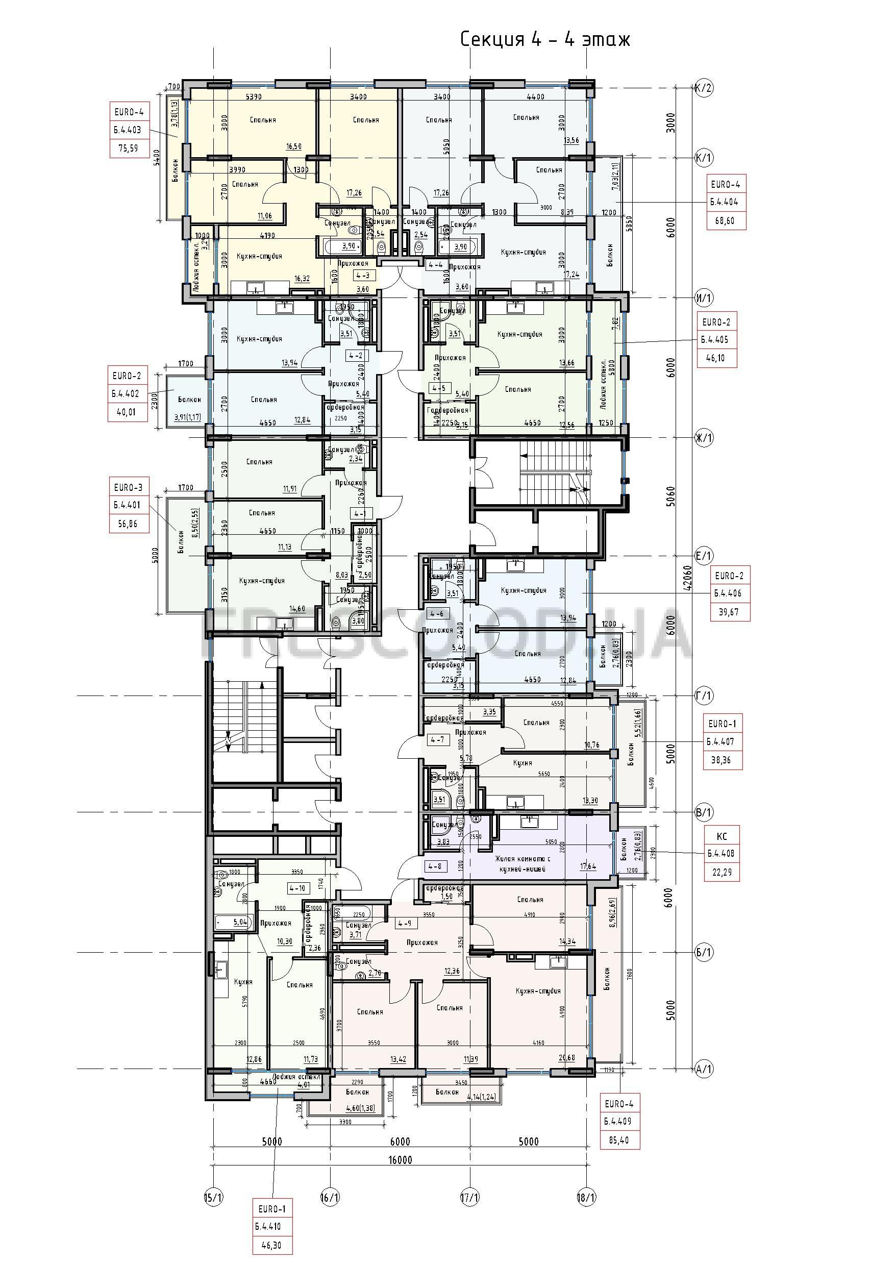 Пространство на Донского 2 Дом 4 секция 4 этаж