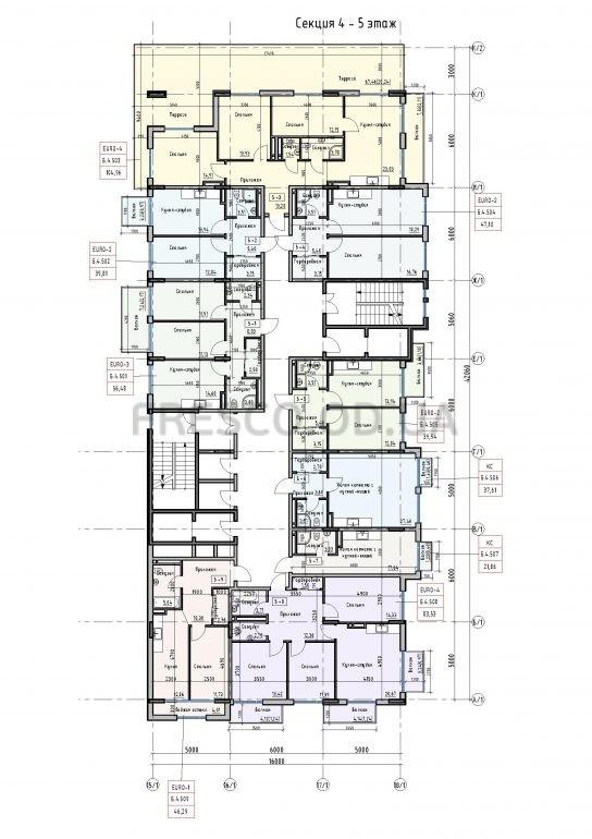 Пространство на Донского 2 Дом 4 секция 5 этаж