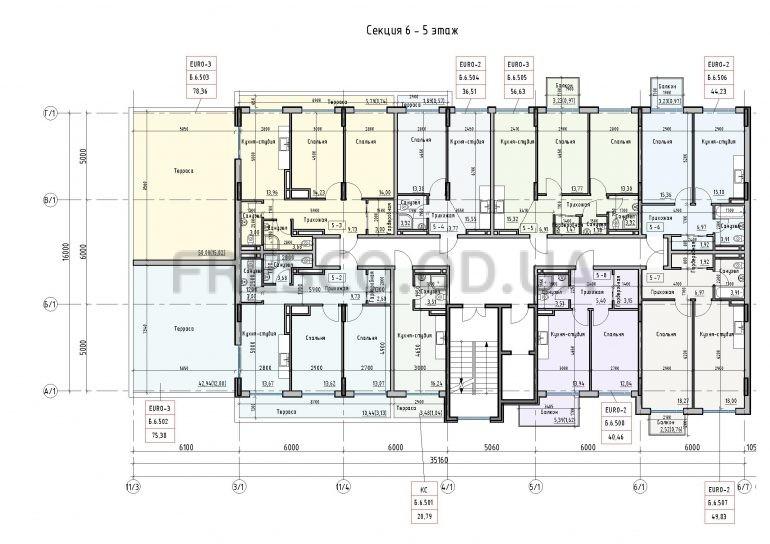 Пространство на Донского 2 Дом 6 секция 5 этаж